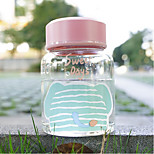 300ml Mini Convenient Travel Glass Cartoon Water Bottle Drinkware