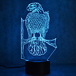 Christmas Eagle Touch Dimming 3D LED Night Light 7Colorful Decoration Atmosphere Lamp Novelty Lighting Christmas Light