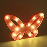 1PC 3D Night Light Plastic LED Lamp Kids Room Bedroom Bedside Lamp Party Wedding Home Decorations