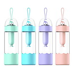 2Pcs Novelty Drinkware 301-400 ml Portable Plastic Water Water Bottle Random Color