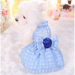Dog Dress Clothes/Jumpsuit Dog Clothes Summer Spring/Fall Plaid/Check Fashion Casual/Daily