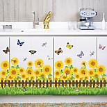 Botánico De moda Florales Pegatinas de pared Calcomanías de Aviones para ParedCalcomanías Decorativas de Pared Calcomanías Para Medir la