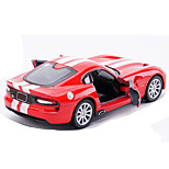 Race Car Pull Back Vehicles Car Toys 1:32 Metal Black Model & Building Toy