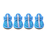 Dog Shoes & Boots Summer Cute Fashion Casual/Daily Solid Blushing Pink Blue Red