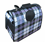 Cat Dog Carrier & Travel Backpack Car Seat Cover Dog Pack Pet Carrier Portable Double-Sided Breathable Foldable Massage Soft Plaid/Check
