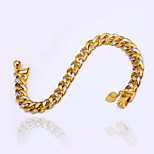 Women's Men's Mixed Two Color Chain Bracelet Fashion Vintage Punk Copper Gold Silver Jewelry