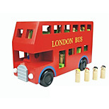 Building Blocks Educational Toy For Gift  Building Blocks Model & Building Toy Bus Wood 2 to 4 Years 5 to 7 Years Toys