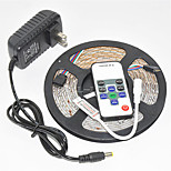 1PCS Waterproof 36W   100-240V  5M 300LED   RGB LED Strip Lights with Remote Controller