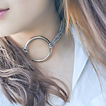 Women's Choker Necklaces Jewelry Round Alloy Euramerican Fashion Punk Personalized Jewelry For Daily Casual 1 pcs