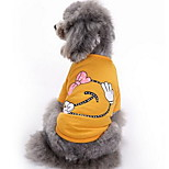 Dog Shirt / T-Shirt Dog Clothes Summer Cartoon Cute Fashion Casual/Daily Red Yellow Orange