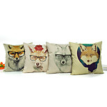 1 pcs  Cartoon glasses wolf pattern Pillow Case