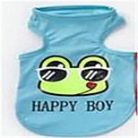 Dog Vest Dog Clothes Summer Cartoon Cute Blushing Pink Blue Red