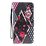 For Huawei P10 Lite  P8 Lite(2017) Case Cover Card Holder Wallet with Stand Flip Pattern Full Body Case Flower Hard PU Leather for P8 Lite P9 Lite