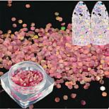 1bottle moda dulce estilo sandía red pez escala rebanada clavo arte brillo decoración láser arte clavo sirena hexágono paillette brillo