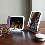 Oppladbart ledet kosmetisk sminke speil bærbar natt lys bordlampe kosmetisk speil for sminke verktøy