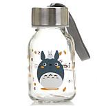 Mini 145ml de vidrio viaje cómodo botella de agua de la historieta