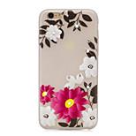 Flower Pattern TPU Material Rhinestone Glow in the Dark Soft Phone Case for iPhone 7 7Plus 6S Plus 6 5 SE
