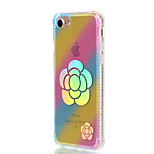 For Apple iPhone 7 Plus 7 Case Cover Shockproof Plating Translucent Pattern Back Cover Color Gradient Flower Soft TPU 6s Plus 6 Plus 6s 6