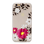 For DIY Rhinestone Glow in the Dark IMD Transparent Case Back Cover Case Rose Soft TPU for iPhone 7 Plus  7  6S Plus  SE 5S 5