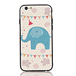 For Apple iPhone 7 7 Plus iPhone 6s 6 Plus Case Cover The Elephant Pattern 3D Relief Plastic Back Shell TPU Frame Cases