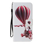 For Huawei P8 Lite (2017) P10 Lite Case Cover Balloon Girl Pattern PU Material Painted Card Wallet Stent All-Inclusive Phone Case P8 P9 Lite