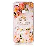 For Huawei P8 Lite (2017) P10 Case Cover Flower Letters Pattern Painted Relief High Penetration TPU Material Phone Case P10 Lite P10 Plus