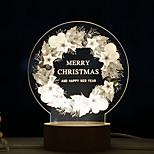 Lumière créative de nuit de Noël 1pc