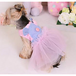 Cani Vestiti Abbigliamento per cani Di tendenza Casual Da principessa Viola Rosa