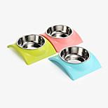 Cat Dog Bowls & Water Bottles Pet Bowls & Feeding Waterproof Portable Green Blue Blushing Pink