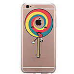 For IPhone 7 Case Back Cover Case TPU Lollipop Pattern for iPhone 7/ 7 Plus 6s/ 6 /6s Plus / 6 Plus/ SE / 5s / 5 /5C/ 4/4s