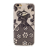 Lace Skirt Pattern TPU Material Rhinestone Glow in the Dark Soft Phone Case for iPhone 7 7Plus 6S Plus 6 5 SE