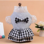 Dog Shirt / T-Shirt Dog Clothes Spring/Fall Flower Cute Fashion Casual/Daily