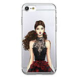 For Ultra Thin Pattern Case Back Cover Case Sexy Lady Soft TPU for iPhone 7 Plus 7  6s Plus 6 Plus 6s SE 5S 5