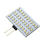 2W Rectangle G4 Led Bulb 30 LEDs 3014 AC/DC 12V-24V for RV/Range Hood/Indoor 200Lm Warm White  (1 Piece)