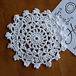 Set of 6 pieces doilies Assorted Shabby Chic Vintage Look Crocheted Doilies Mix Color