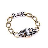 Women's Chain Bracelet Jewelry Friendship Fashion Alloy Geometric Black Jewelry For Wedding Anniversary 1pc