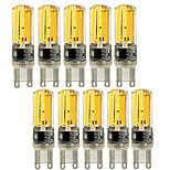 5W E14 G9 G4 Luces LED de Doble Pin T 4 COB 450 lm Blanco Cálido Blanco Fresco Regulable Decorativa AC 100-240 V 10 piezas