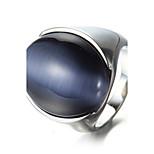 Муж. Массивные кольца Кольцо Мода Панк По заказу покупателя Хип-хоп Rock Euramerican Титановая сталь Овальной формы Геометрической формы