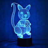 Christmas Squirrel Turtles Touch Dimming 3D LED Night Light 7Colorful Decoration Atmosphere Lamp Novelty Lighting Christmas Light