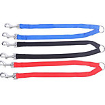 Collar Leash Safety Training Solid PU Leather Blushing Pink Blue