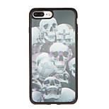 Pour Motif Coque Coque Arrière Coque Crâne Flexible PUT pour Apple iPhone 7 Plus iPhone 7 iPhone 6s Plus iPhone 6 Plus iPhone 6s iphone 6