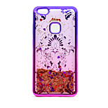 For Huawei P10 Lite P8 Lite (2017) TPU Material Plating Laser Carving Quicksand Phone Case
