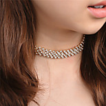 Women's Choker Necklaces Rhinestone Jewelry Copper Rhinestone Euramerican Fashion Personalized Jewelry ForParty Special Occasion Daily
