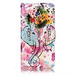 For LG G6 Case Cover Elephant And Flowers Pattern Shine Relief PU Material Card Stent Wallet Phone Case