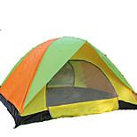 3-4 человека Световой тент Двойная Складной тент Однокомнатная Палатка <1000mm Стекловолокно ОксфордВодонепроницаемость С защитой от