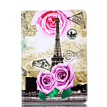 For Apple iPad Mini 4 3 2 1 Case Cover Tower Pattern Card Stent PU Material Flat Protection Shell