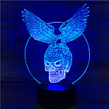 1PC Touch 7-Color Skeleton Eagle Led Lamp 3D Light Color Vision Stereo Colorful Gradient Acrylic Lamp Night Light Vision