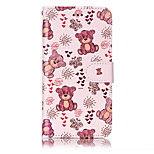 For Huawei P10 Lite P8 Lite (2017) PU Leather Material Bear Pattern Relief Phone Case P10 Plus P10 P9 Lite P8 Lite