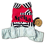 Dog Clothes/Jumpsuit Dog Clothes Casual/Daily Stripe Ruby Blushing Pink