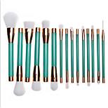 Set di pennelli Pennello per cipria Pennello per ombretto Pennello per labbra Pennello sopracciglia Pettine per ciglia rotondo Spazzola